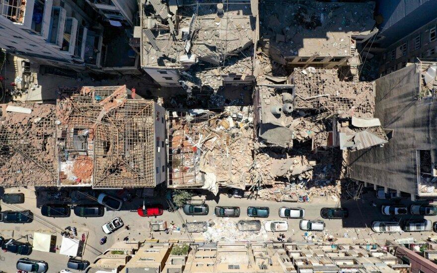 Iš sprogimo sugriauto Beiruto uosto išvežta 8 000 tonų betono ir plieno