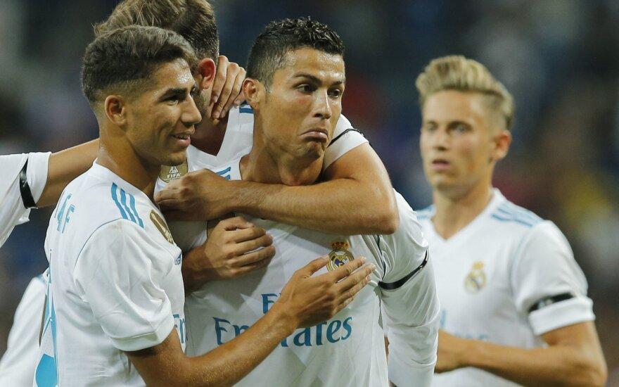Cristiano Ronaldo reakcija po įvarčio