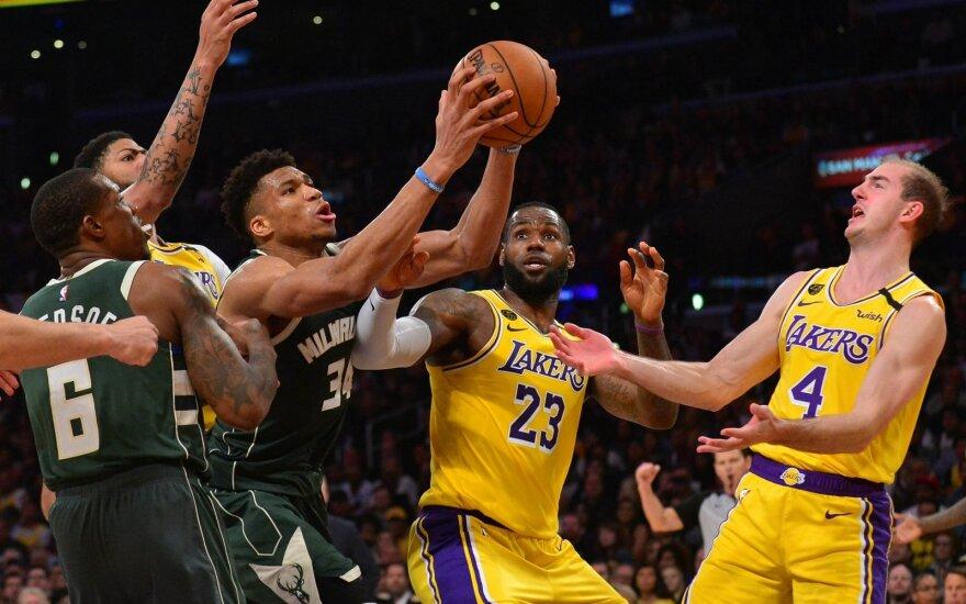 Milvokio Bucks ir Los Andželo Lakers akistata