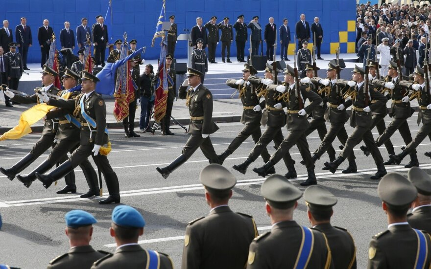 Ukrainai minint Nepriklausomybės dieną į šalį atvyko JAV gynybos sekretorius