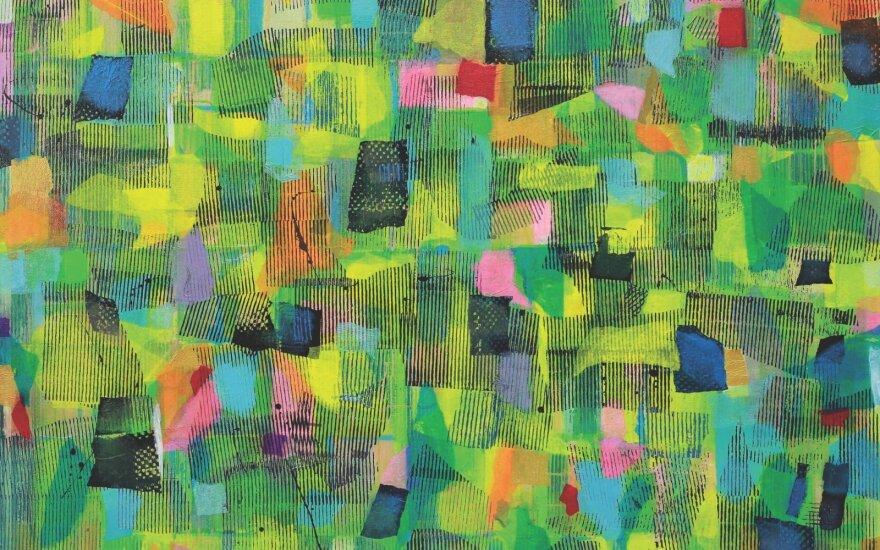 Gintautas VAIČYS. Corona jazz virus. 2020. Drobė, akrilas; 130 x 160