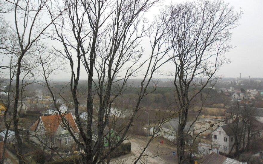 Vaizdai nuo Ukmergės piliakalnio