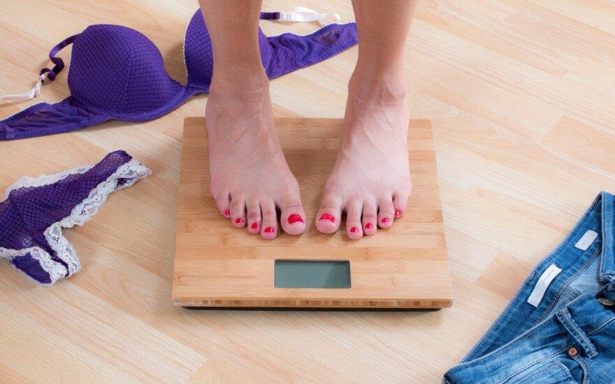 Atrodo, kad svoris nekrenta? Visai tikėtina, kad netinkamai sveriatės