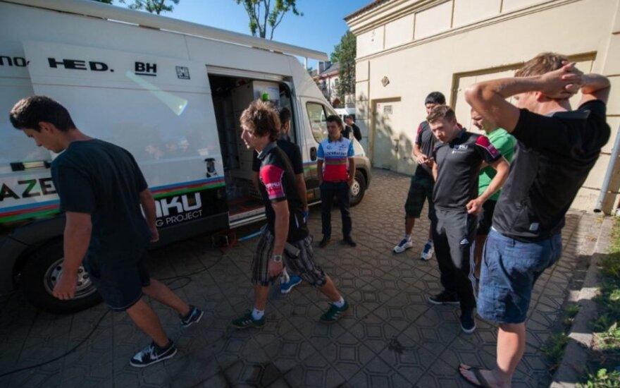 Panevėžyje pavogti Baku komandos dviračiai