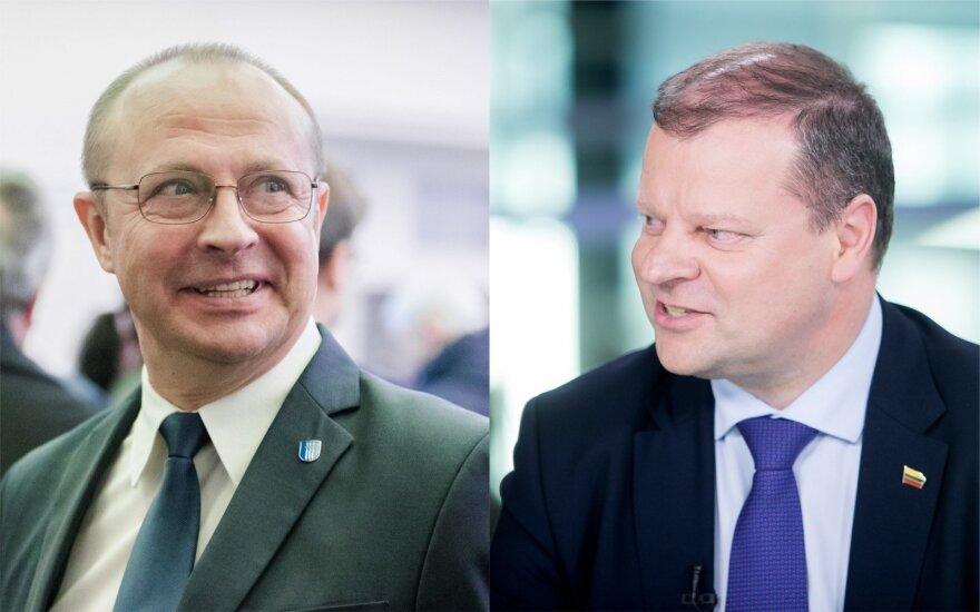 Ričardas Malinauskas ir Saulius Skvernelis