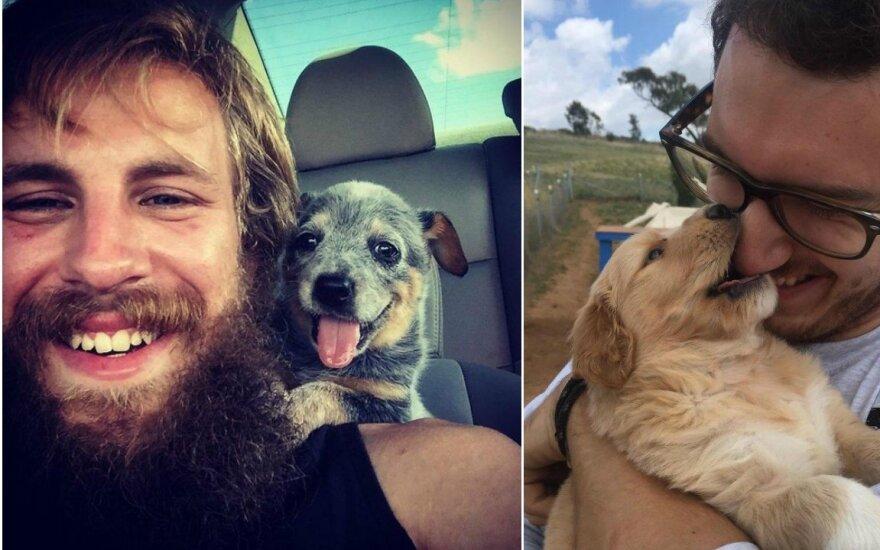Pirmoji šunų ir jų naujų šeimininkų pažintis