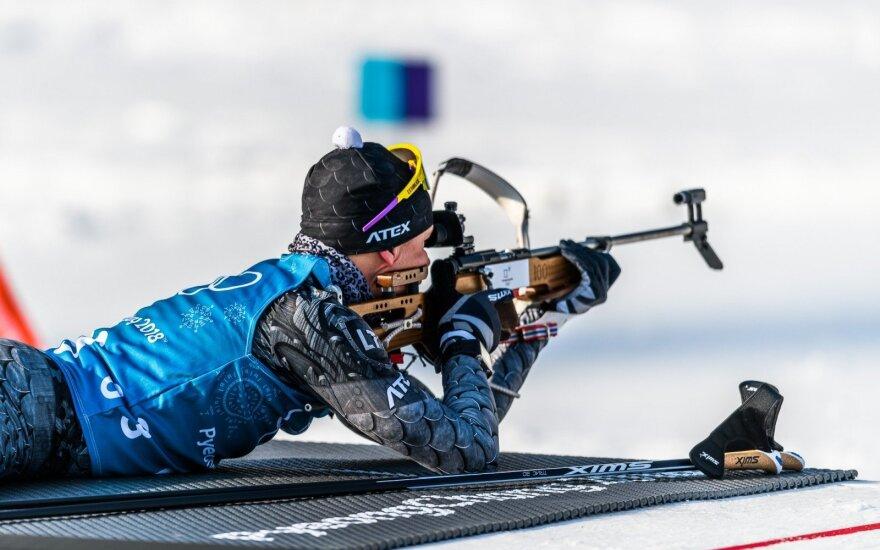 Lietuvos olimpinės biatlono rinktinės treniruotė