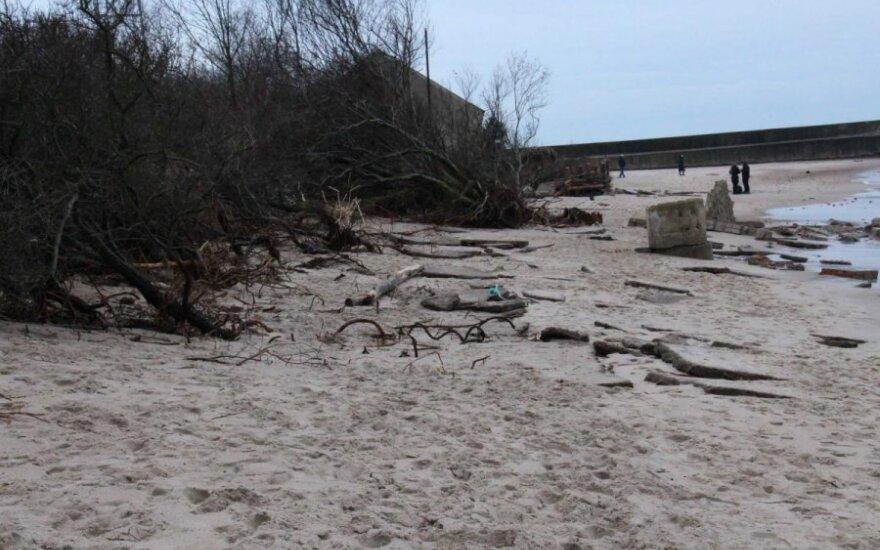 Klaipėdos paplūdimius jau apvalė savanoriai