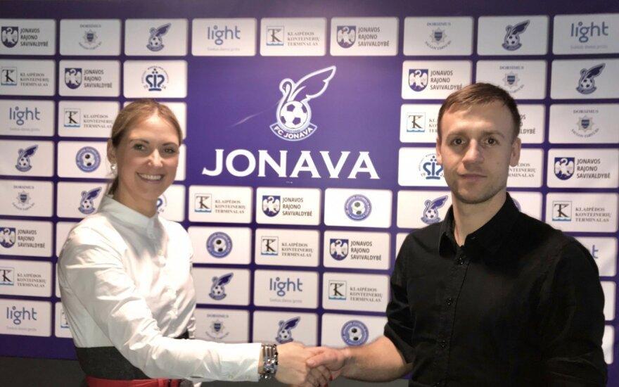 """Rita Bagdonienė, Arūnas Klimavičius (FK """"Jonava"""" nuotr.)"""