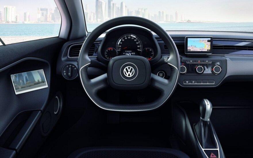 """""""Volkswagen"""" pristatys vienvietį elektromobilį"""