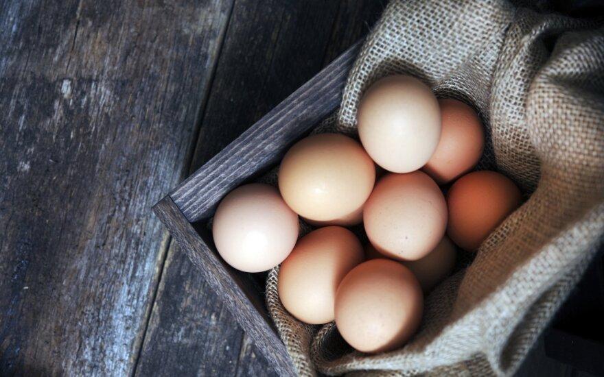 """""""Iki"""" kulinarijos gaminiuose nebenaudos narvuose laikomų vištų kiaušinių"""
