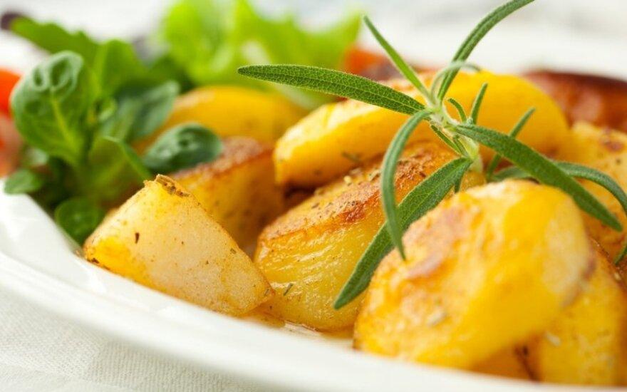 Orkaitėje keptos bulvės su mocarela