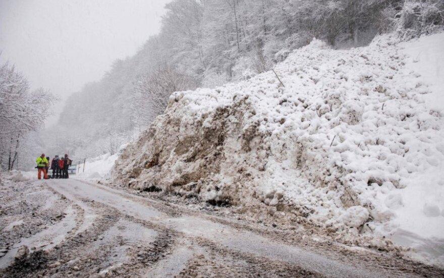 Sniego griūtis pietų Vokietijoje