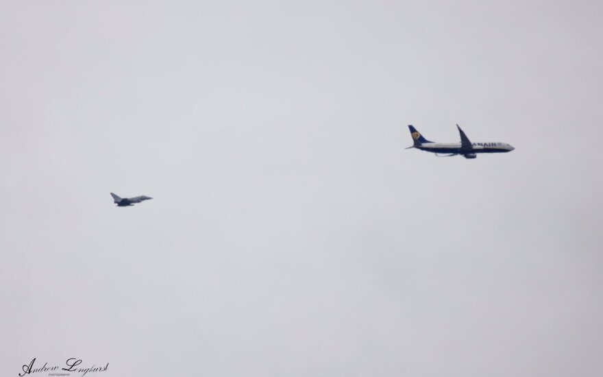 RAF escorting Raynair jet from Kaunas