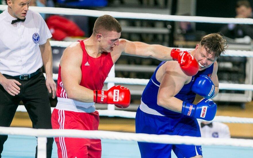 Lietuvos bokso čempionato akimirkos, pirma diena