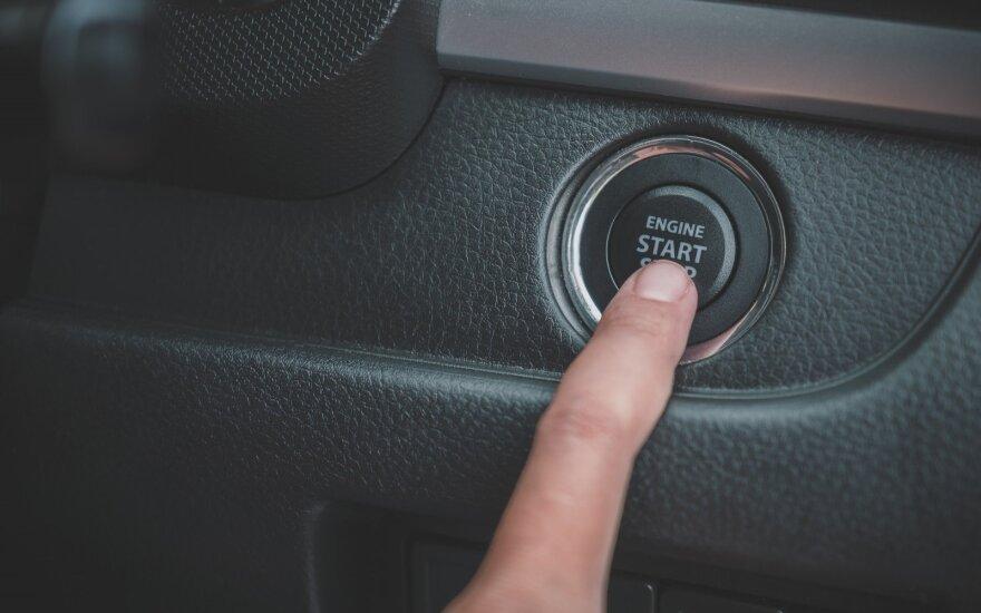 Variklio užvedimo mygtukas