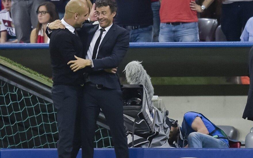 """""""Barceloną"""" į pergales ir toliau ves treneris L. Enrique"""