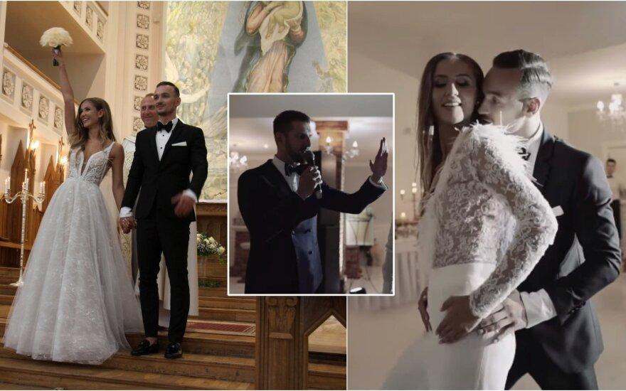 """""""Man-go"""" narės Gabijos Sruogiūtės ir jos mylimojo vestuvių šokis"""