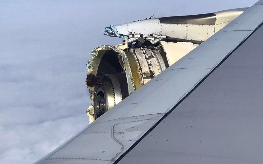 Košmaras virš Atlanto vandenyno: lėktuvo variklis ėmė byrėti ore