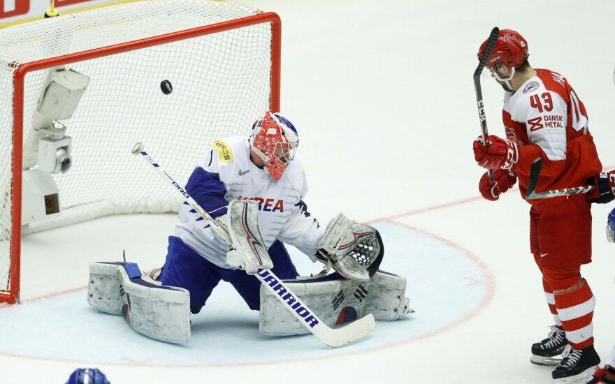 Pasaulio ledo ritulio čempionatas: Danija - Pietų Korėja