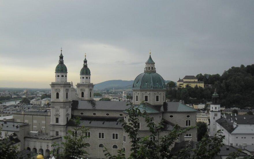 Zalcburgo vaizdas iš pilies terasos