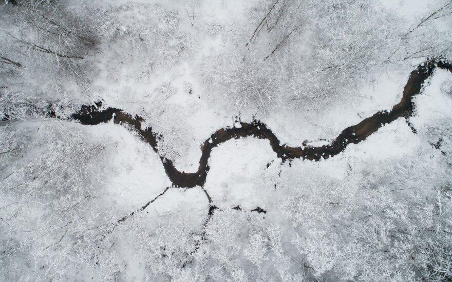Žiema Neries regioniniame parke