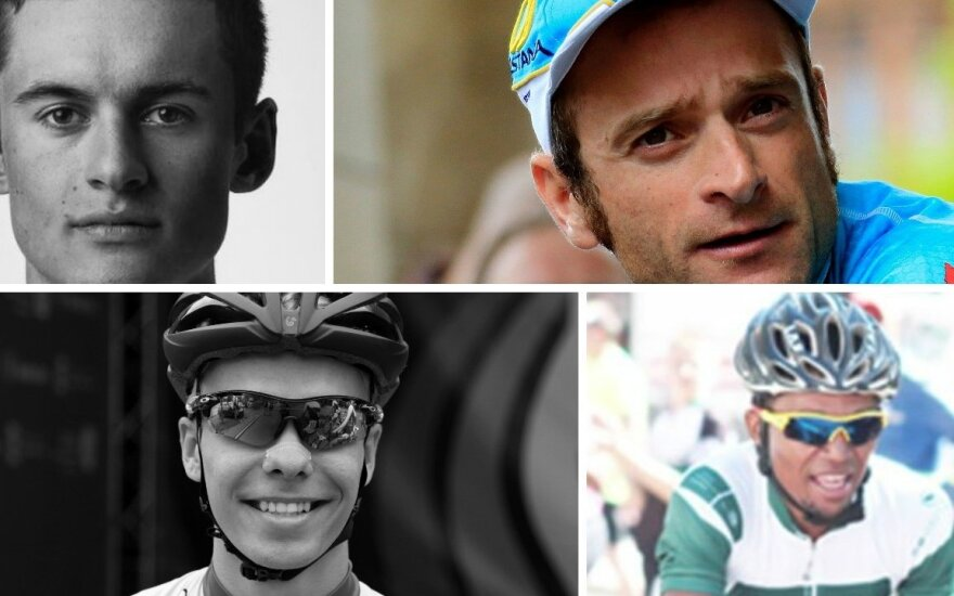 Chadas Youngas, Michele Scarponi, Linas Rumšas, Raulis Costa Seibebas (AFP-Scanpix, LDSF, Twitter-Scanpix nuotr.)