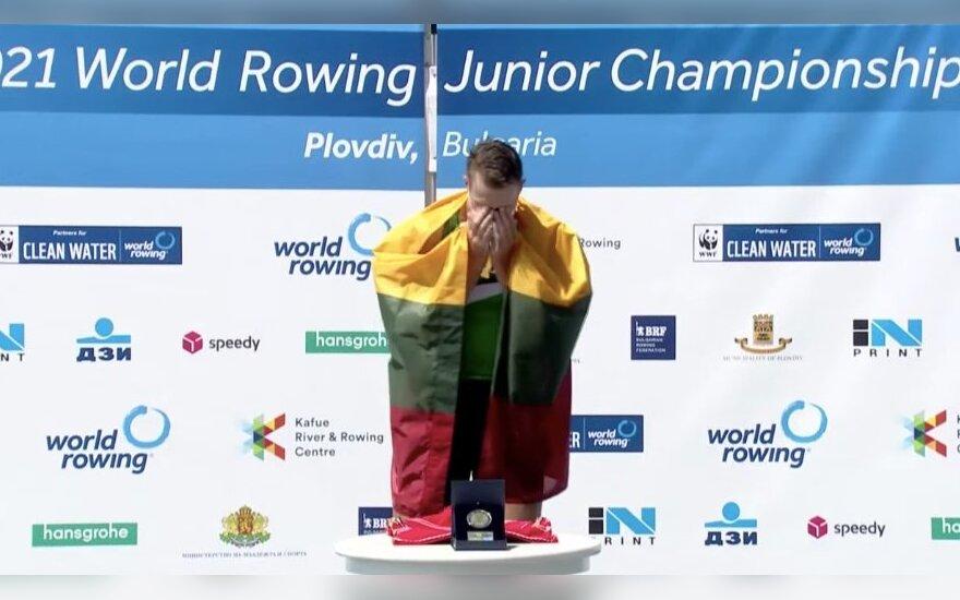 Jaunasis Lietuvos irkluotojas tapo pasaulio čempionu