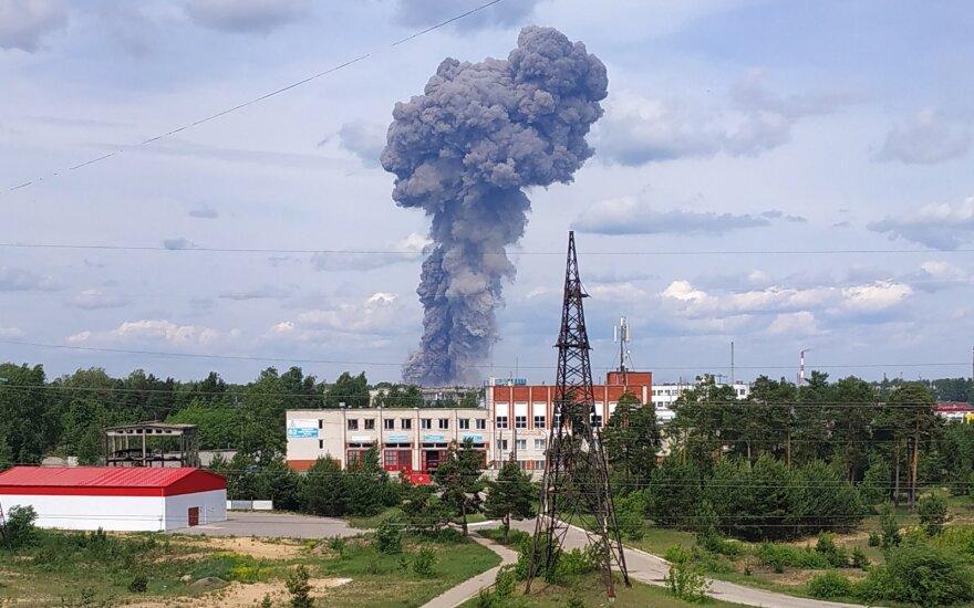 Sprogimo Rusijos sprogmenų gamykloje banga išdaužė per 1100 langų