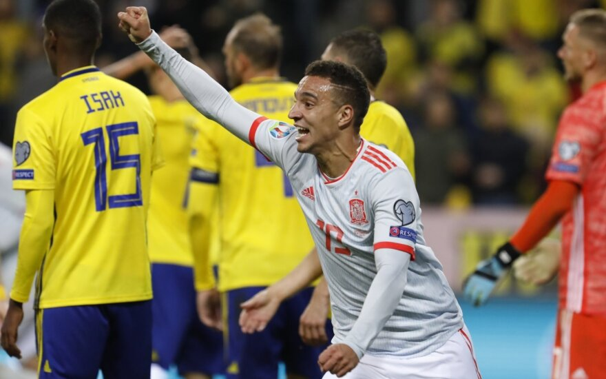 Europos čempionato atranka: Švedija - Ispanija