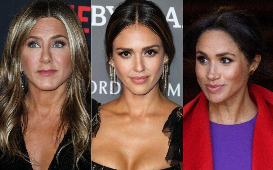 Jennifer Aniston, Jessica Alba, Meghan Markle