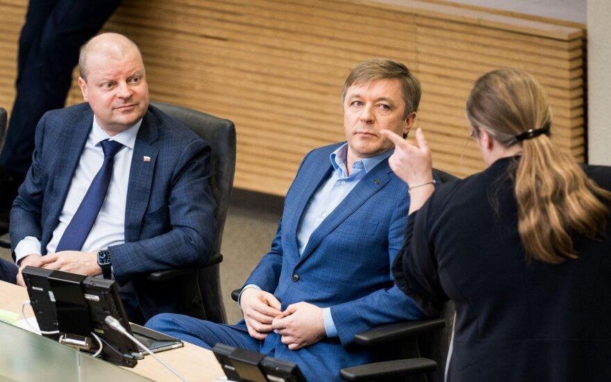 Saulius Skvernelis, Ramūnas Karbauskis, Agnė Širinskienė