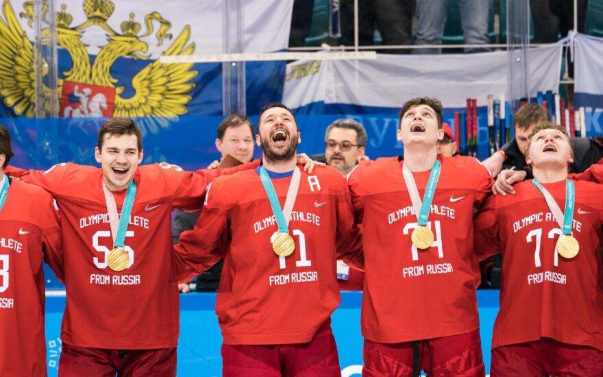Olimpiniai atletai iš Rusijos laimėjo ledo ritulio aukso medalius