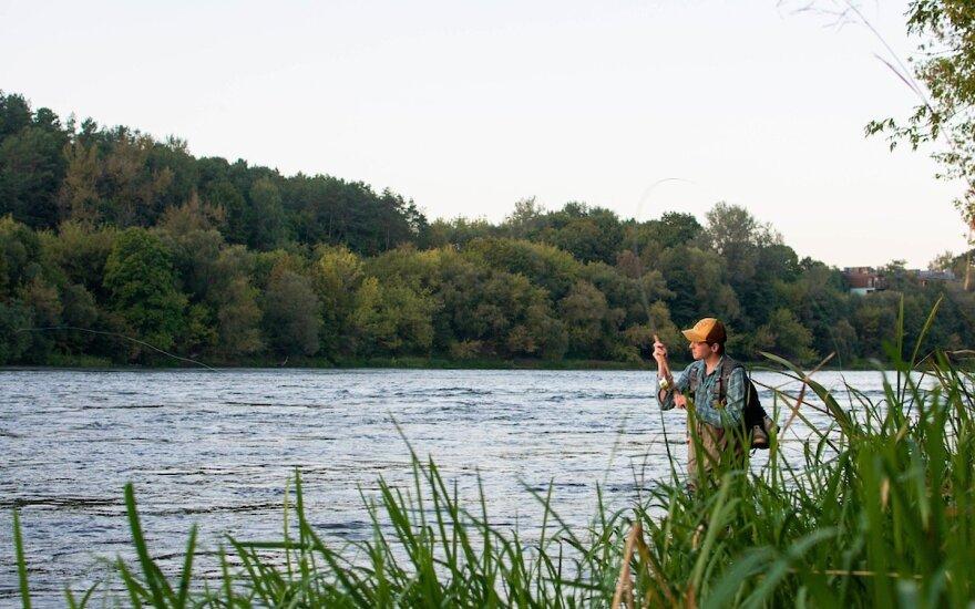 Akimirka iš žvejybos Vingio parke