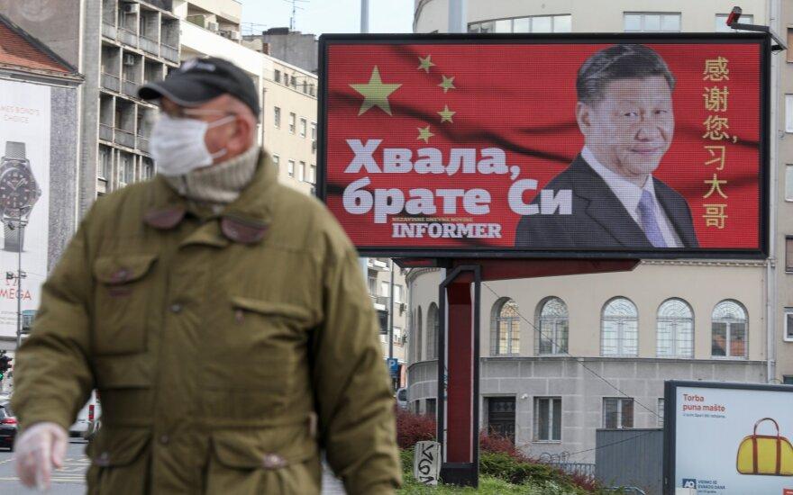 Padėka Xi Jinping už medicinines pagalbos priemones / Belgradas, 2020 balandis