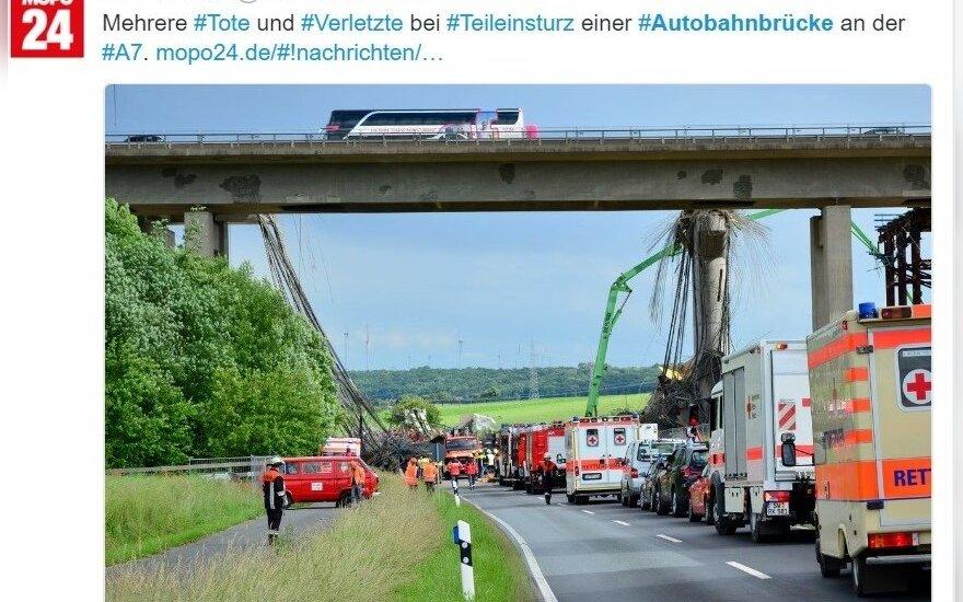 Nelaimė Vokietijoje: sugriuvo statomas greitkelio tiltas