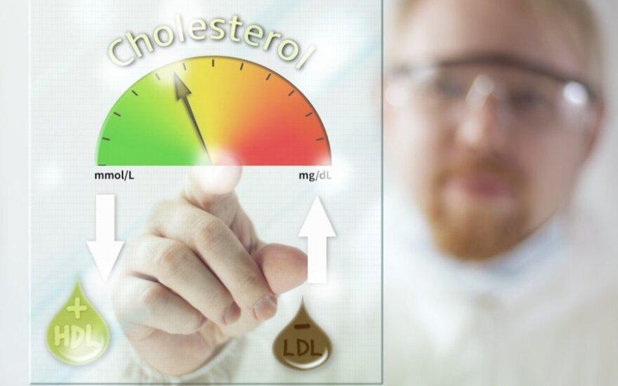 Kas nulemia padidėjusį cholesterolio kiekį