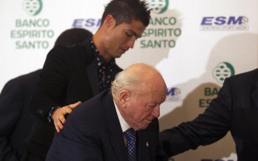 Cristiano Ronaldo ir Alfredo Di Stefano