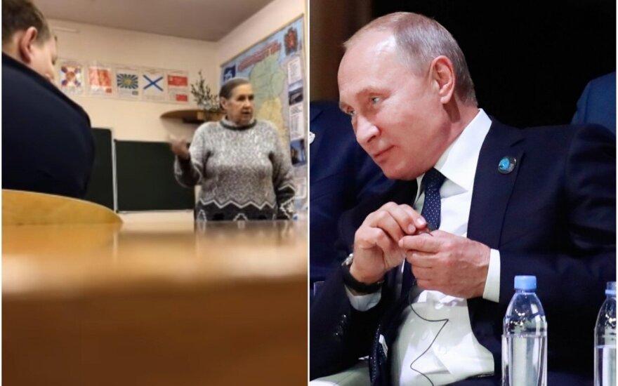Mokytoja Rusijoje įsiuto dėl užrašo ant lentos