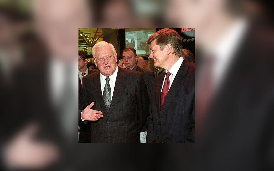 Algirdas Brazauskas ir Artūras Paulauskas