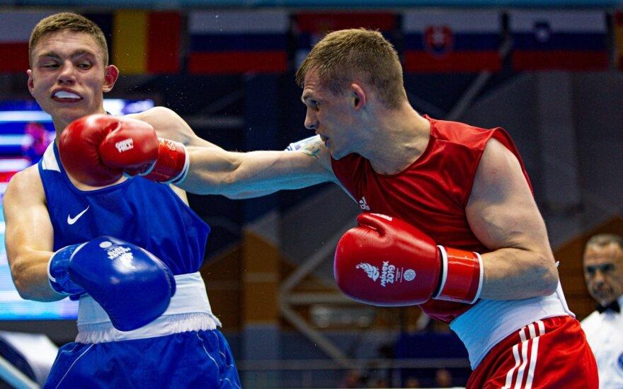 Europos žaidynės, boksas, Edgaras Skurdelis (dešinėje)