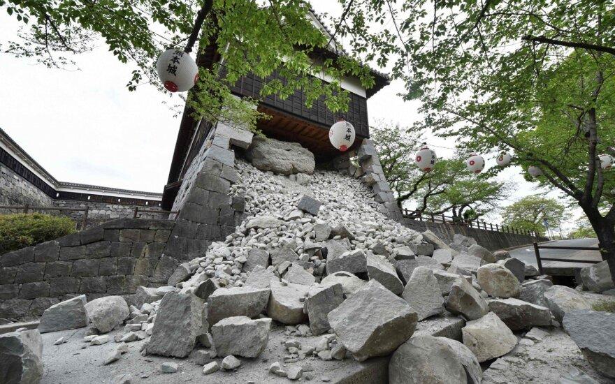Nugriuvo istorinės pilies bokštas