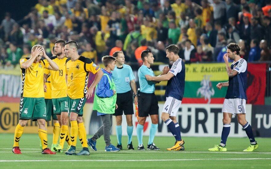 Pasaulio futbolo čempionato atranka: Lietuva - Škotija