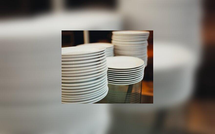 Restoranas, virtuvė, lėkštės, indai, kavinė