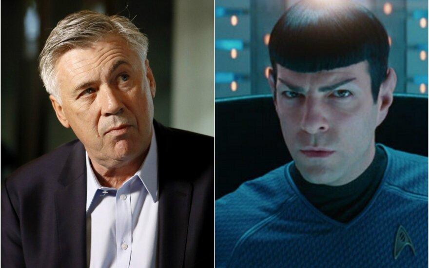 """Carlo Ancelotti vaidins naujausioje """"Žvaigždžių kelio"""" ekranizacijoje."""