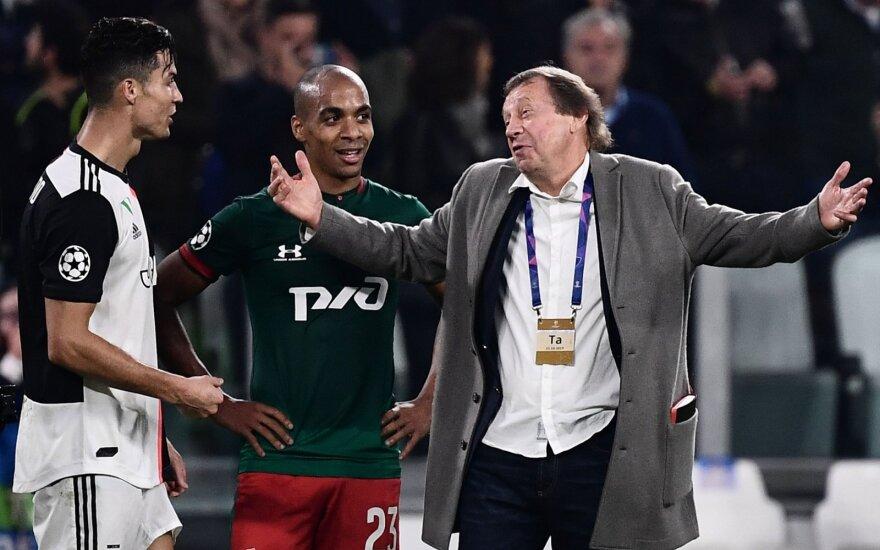 (iš kairės) Cristiano Ronaldo, Joao Mario, Jurijus Siominas
