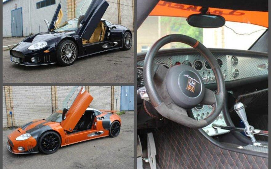 Parduodami Snoro sportiniai automobiliai Spyker C8