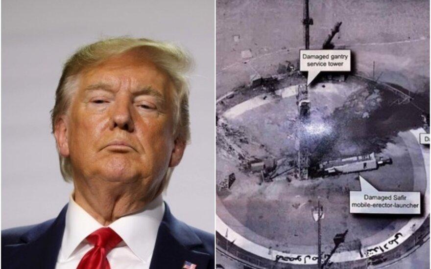 Trumpas paviešino slaptą informaciją (AFP / Scanpix/Twitter nuotr.)