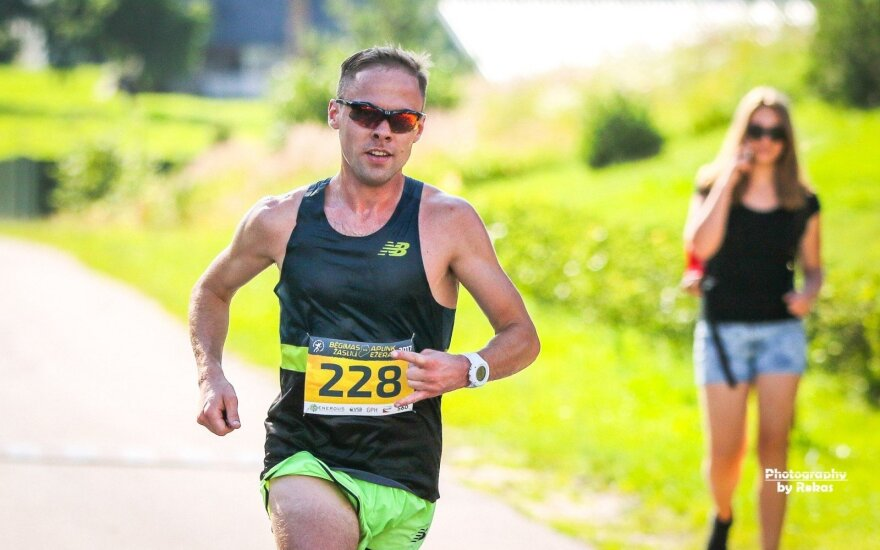 Lietuvos bėgimo taurės IX etapas, bėgimas aplink Žaslių ežerą