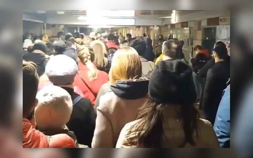 Vaizdai iš socialinių tinklų: Maskvoje – visiškas chaosas